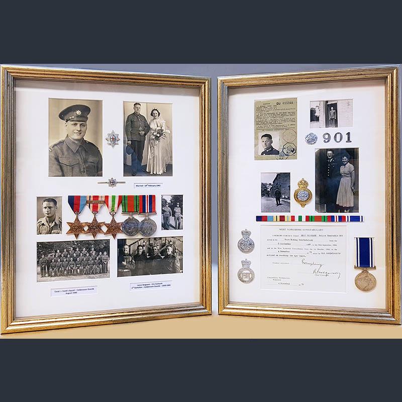 bespoke medal framing