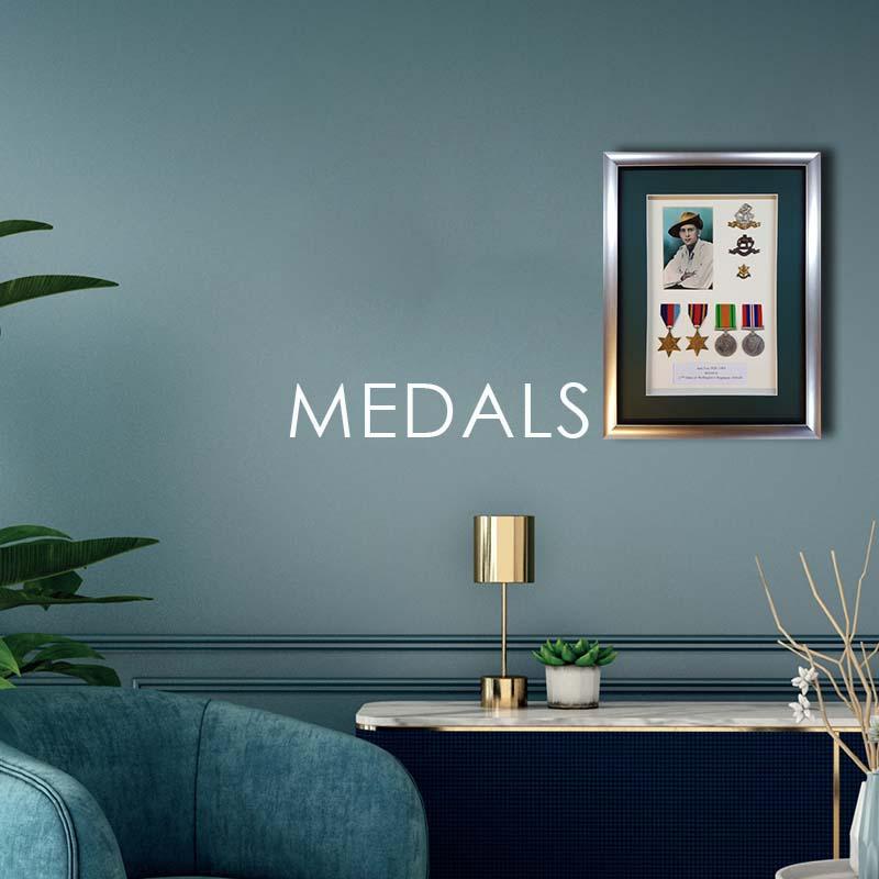 bespoke framing medals