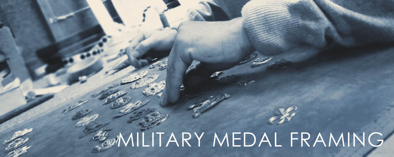 military medal bespoke framing