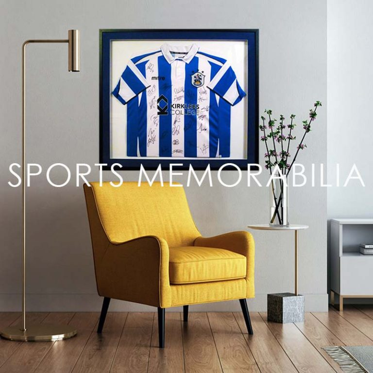 bespoke football shirt framing